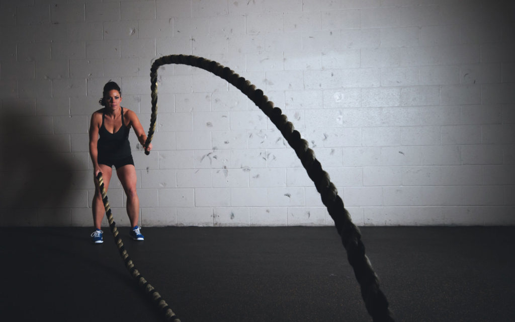 Become a Machine with Battle Ropes